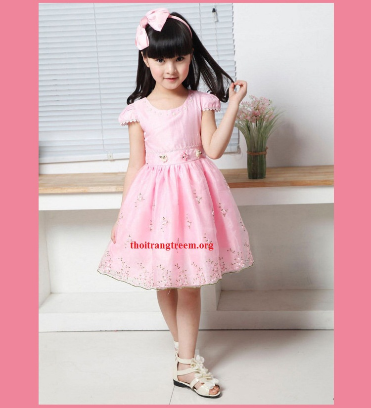 girls-beading-embroidery-dress-puff-sleeve-2014-fashion-princess-lordly-elegant-cute-kids-children-Ball-Gown